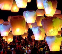 April Fool's Day Event & Party Supplies  Free Shipping Chineses Lantern Sky Lantern Kongming Lantern Flying Wishing Lamp Wedding Party Paper Lights