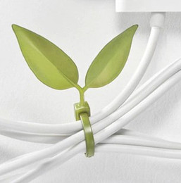 Wholesale 12PCS Leaf Leaves Tie Style Power Cord Management Ray Belt Cable Winder Tie Line