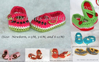 baby delight - 9 off Summer Watermelon Delights Shoes Crochet Baby Shoes drop shippingshoes sale hot sale shoes infant shoes pairs