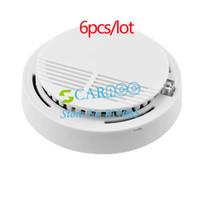 Wholesale 6PCS Hot Photoelectric Wireless Smoke Detector for Fire Alarm Sensor