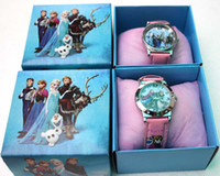 Wholesale Cartoon Frozen girl Cartoon Child clock watch Wristwatche