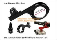 Wholesale Gopro Accessories Bicycle Rack for Gopro Hero2 Hero3 Hero3 Cameras Bike Handlebar Clip HR85 mm sets