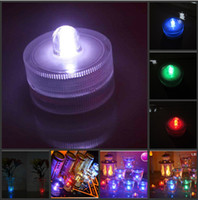 Wholesale White Color Waterproof LED Submersible Candles Tealight Lamp Fish Tank Vase Decor Lighting For Wedding Birthday Party Bar Decoration