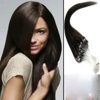 Wholesale 22 quot inch length beads gram per strandMedium brown microbeads hair