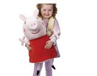 Wholesale 2014 Peppa Pig Toys Large Peppa Pig cm Peppa Pig Stuffed Animals And Plush Toys Cute Kids Toddler Toys Soft Toys With CE Mark
