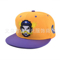 Wholesale The new EXO same paragraph MLB Peixiu Zhi Lu Han hip hop baseball cap influx of Korean men and women hip hop cap flat along