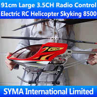 Skyking 8500 Electric 91cm Big Large 3.5CH Radio Remote Electric Control RC Helicopter Metal Gyro with LED light Gyroscope Sky King HCW 8501 8500 SkyKing Best Toy