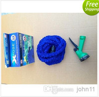 Cheap Hot Selling !!! Expandable & Flexible hose Blue Water Garden Pipe with spray nozzle