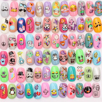 Wholesale 5pcs Stickers optional D Nail Art Transfer Design Manicure Tip Decal Decorations Patch Foil Wrap