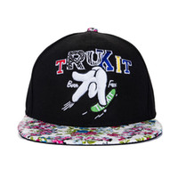 Wholesale Floral hat new finger skateboard hip hop cap baseball cap embroidered letters