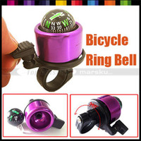 China (Mainland) aluminium alloy 40mm 2pcs lot New Bicycle Bell Ring,Metal Bell Ring,Metal Bell Ring Compass For Bike, free shipping
