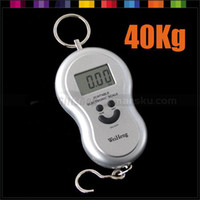 Pocket Scale 10kg-100kg Guangdong China (Mainland) 40Kg x 10g Portable LCD Digital Electronic Luggage Hanging Hook Fish Weighing Balance Pocket Scale #208
