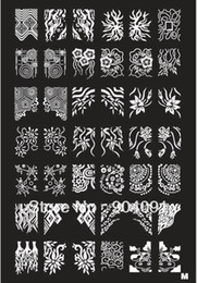 Wholesale Retail A Z Series XL Medium Size Stamp Stamping Image Konad Plate Print Nail Art Large BIG Template DIY