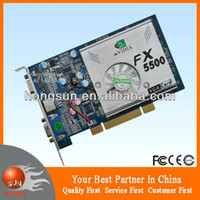 Wholesale New MB Dual VGA Ports NVIDIA GeForce FX5500 PCI Graphic Card BIT DDR S Video drop with tracking number