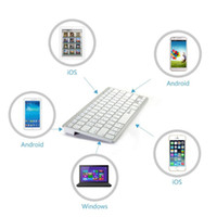 Wholesale 7colors Thin Slim Mini Bluetooth Wireless Keyboard for apple iOS Android Windows