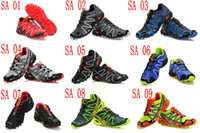 Wholesale 2014 colors New Arrival Zapatillas Salomon Speedcross Walking Running Shoes Men