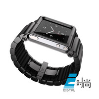Stainless Steel Multicolor inch Free shipping NEW 3 Colors Metal aluminum Watch Band aluminum Wrist Strap Cover Case For iPod Nano 6 6th
