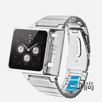 Stainless Steel Multicolor inch Free shipping NEW New Metal Stainless Steel Wrist Strap Watch Band Case for iPod Nano 6 6th 6G