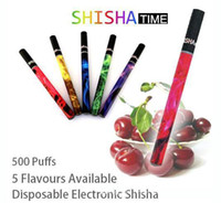Cheap DHL 500PCS Electronic Cigarette Disposable Shisha Pen Shisha Time Pipes 500 Puffs Each Hookah Pen E-hookah DZ2