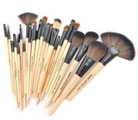 Wholesale 24 Professional Makeup Brush Kit Makeup Brushes Sets Cosmetic Brushes Good Quality PU Leather Bag