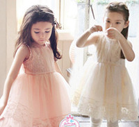 girls party dresses - New Summer Princess Dress Childrens Girls Dresses Sleeveless Kids Clothes Lace Gauze Dresses Pink Party Dress C2196