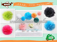 Wholesale For Wedding10pcs cm quot Tissue Paper Pom Poms Wedding Decoration Party Pompoms Flower Ball Festival Home Decor Craft Pompoms