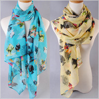 Wholesale Women scarves new Infinite chiffon scarf Fashion female designers Printing style new elegant lady trend