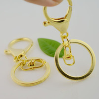 Alloy bag snap hook - 100Sets Gold Plated Lobster Clasps Swivel Trigger Clips Snap Hooks Bag Key Ring