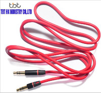 beats audio headphones - 100PCS mm Male to Male Detox Pro Headphone Replacement Audio cable Extension Stereo AUX Cable for Monster Beat tbtgroup