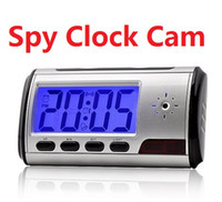 Wholesale Clock spy camera Spy hidden watch camera sliver Clock High definition HD M With Remote Control coolcity2012
