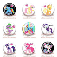 Multicolor button badge - 2014 New Arrival My Little Pony Kids Cartoon Tin Buttons pins badges MM Round Brooch Badge Kids Toy Kids Party Favor