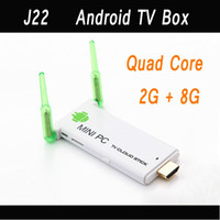 Quad Core Included 1080P (Full-HD) Free DHL J22 Quad Core Android TV Box TV Dongle RK3188 Dual Antenna Bluetooth 2G 8G Google Smart TV BOX Android Mini PC 4.2