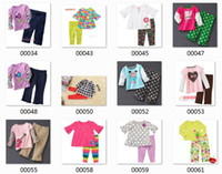 Wholesale camouflag cotton interlock jersy knit children kids toddler baby girl pants pajamas set pieces sleepwear cotton set