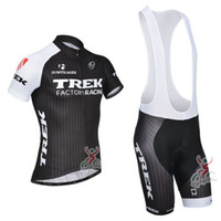 Wholesale New TREK Cycling Jersey and Cycling Bib Shorts Kit TREK Cycling Clothing Set Black Size XS XL