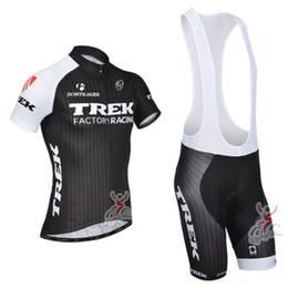 Wholesale New TREK Cycling Jersey and Cycling Bib Shorts Kit TREK Cycling Clothing Set Black Size XS XL