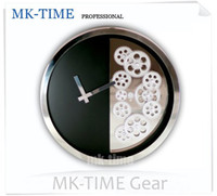 Mechanical Wall Clocks Yes Free shipping fashion high quality Metal skeleton gear clock mechanical gear alarm clock movement
