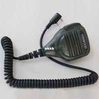 Wholesale 3pcs Camo Mic TK plug pin mm Handheld Microphone Shoulder Speaker for walkie Baofeng QUANSHENG Wouxun UV R