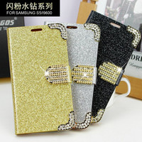 Wholesale 2014 New Case Diamond Photeosensitive color laser lines fashionshow your taster For Samsung note3 chain credit card money pocket skin cover