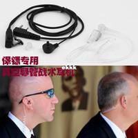 Civilian radio walk talkie - Walk Talkie Earphones Headset Earring Air Catheter Tactical Radiation resistant Earphones Obama Bodyguard Same Style Earphone