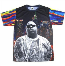 Wholesale New Inc Exclusive Shop Hip Hop Star Men Clothes Hba Inc d pac T shirt Leather Sleeve Men Shirts Tupac Fashion Exaggerated