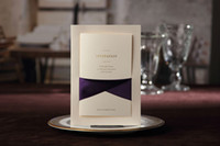Wholesale 1 Set Sample Vintage Wedding Invitation Card Card Envelope Seal