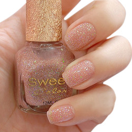 Wholesale choke a small pepper Sweet color green nail polish gold sequins colorful camel colored diamonds