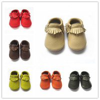 Boy Spring / Autumn genuine leather free shipping wholesale baby moccasins soft leather moccs baby booties toddler shoes