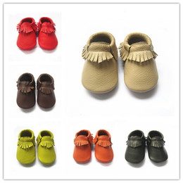 Wholesale baby moccasins soft leather moccs baby booties toddler shoes