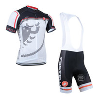 Wholesale 2014NEW style white castelli team short sleeve cycle bicycle bike Cycling Jersey top shirt wear shorts sets athletic Outdoor sports clothing