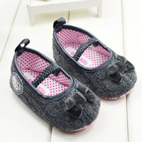 Wholesale Grey woolen yarn knit Baby Girls Shoes Infant soft bottom Toddler Shoes Baby First Walker Shoes cm pair TX408