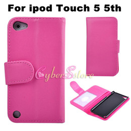 Wholesale Luxury Wallet Photo Frame Credit Card Slots PU Flip Leather Case Cover With Credit Card Slots Stand Holder For Ipod Touch th