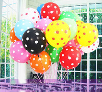 Wholesale Hot Sale Colors quot Colorful Spot Air Balloon Festival Decoration Balloon Toy Balloon for Kids Q1402