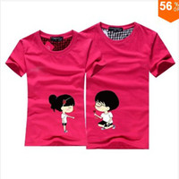 Unisex Cotton Round 2014 new 100% Cotton tees new spring -summer casual men summer mans t-shirts t shirt for couples print cute t shirt