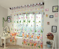Wholesale Rustic Romantic Window Screening Butterfly Design For Girls Bedroom Sheer Panel Fabric For Living Rome Decoration